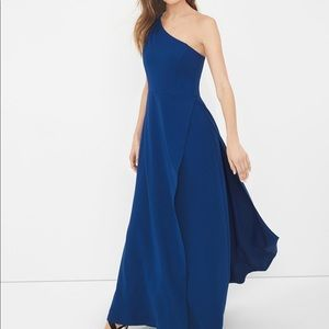 WHBM One-Shoulder Gown